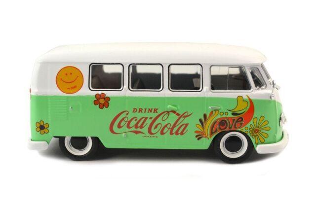 1959 Volkswagen Samba Bus Coca Cola Flower 1:43 Motor City Classics 478064 VW T1