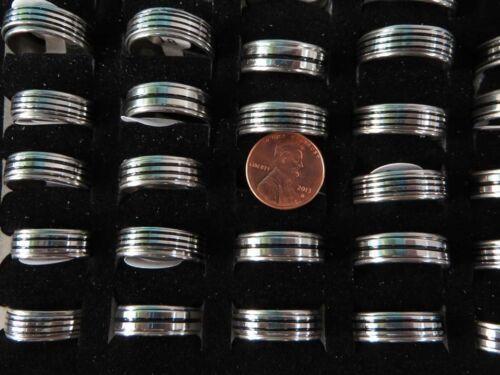 * US Vendeur Lot de 10 hommes Bijoux en acier inoxydable Spinning Rings Bijoux Vrac