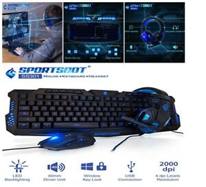 0e6971a6f30 Image is loading Gaming-Keyboard-Mouse-and-Over-Ear-Headset-Headphone-