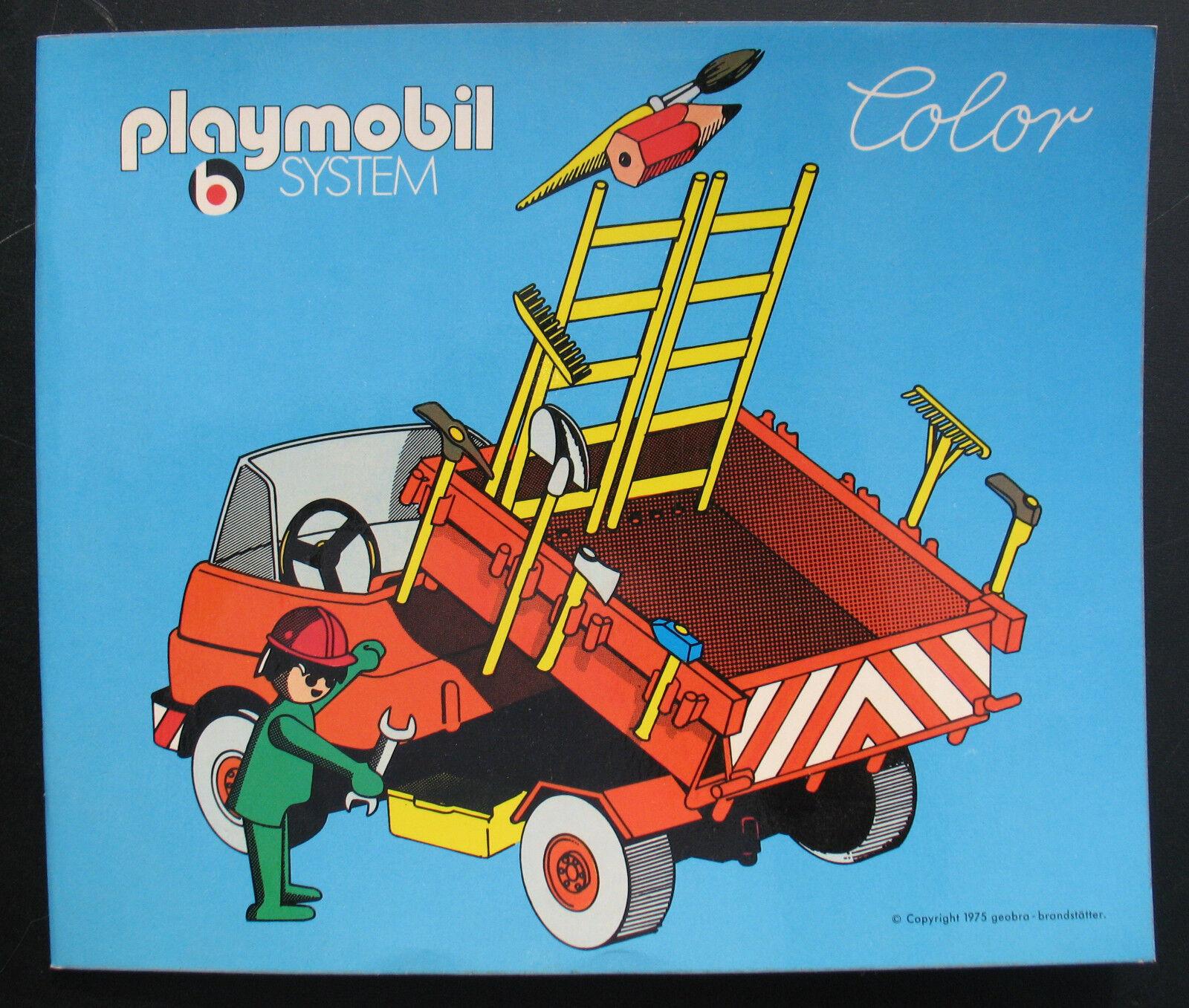 PLAYMOBIL color-lavoratori edili colorare smontati-coloring book - 1975 Pestalozzi