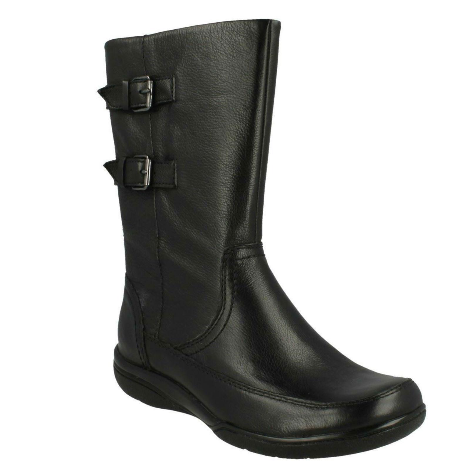 KEARNS RAIN LADIES LADIES LADIES CLARKS ZIP SMART MID CALF LEATHER WINTER BIKER Stiefel SIZE 52f4d0