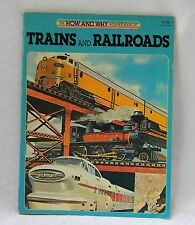 HOW AND WHY WONDER BOOK OF TRAINS AND RAILROADS--1981--IN GREAT SHAPE--PAPERBACK