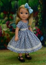 """My Sunday Dress"" Dress Outfit for American Girl Wellie Wishers, Hearts 4 Hearts"