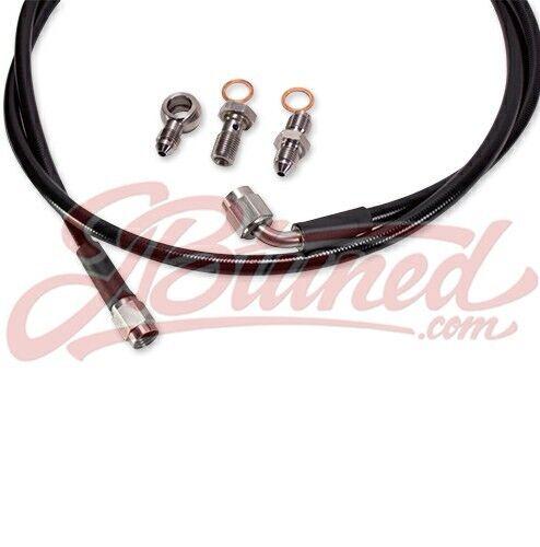 Tucked Stainless Steel Clutch Line Black Honda Civic 95-00 EK D or B-Series B16