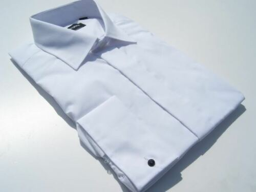 MENS WHITE WEDDING WORK SHIRT CLASSIC COLLAR 15""