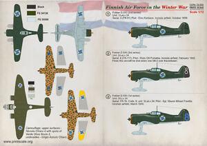 Print-Scale-Calcomanias-1-72-Finlandes-Air-Force-en-el-Invierno-Guerra-72332