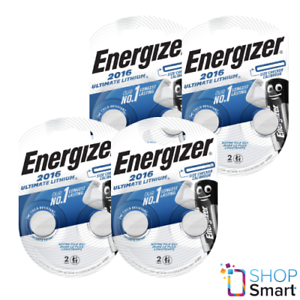 8 ENERGIZER CR2016 ULTIMATE LITHIUM BATTERIES 3V COIN CELL ECR2016 EXP 2025 NEW