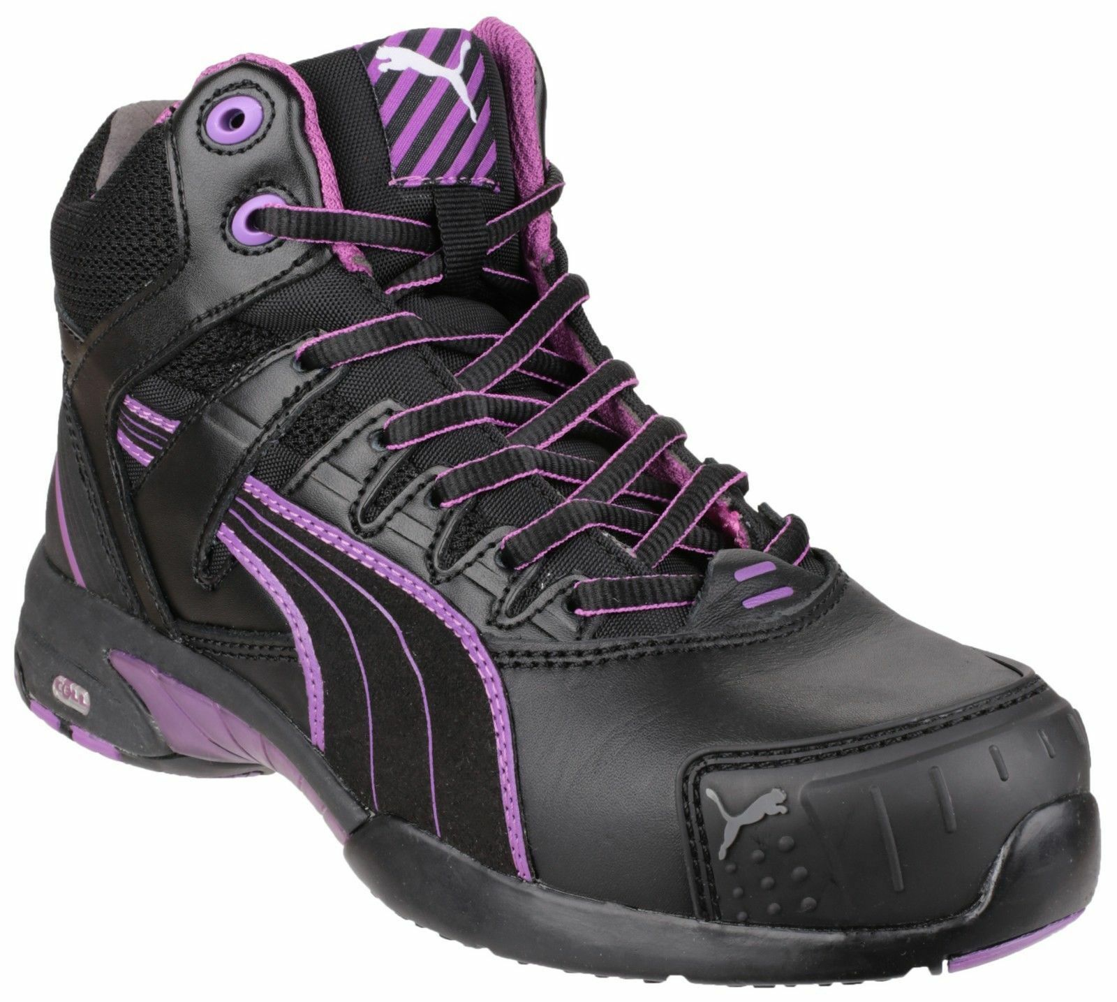 Puma Safety Women Purple Athletic Safety Boot Black Stepper Mid WO 630600