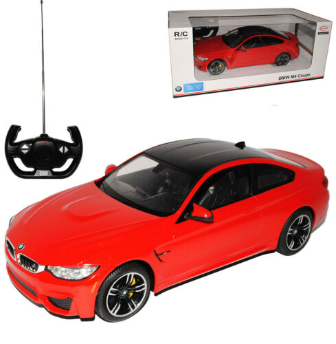 1//14 Rastar Mod BMW 4er M4 F32 Coupe Rot Ab 2013 RC Funkauto mit Beleuchtung