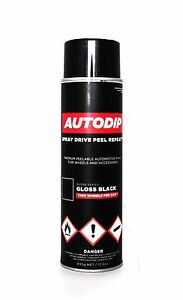 autodip gloss black peel off spray paint for wheels trim lip diffuser interior ebay. Black Bedroom Furniture Sets. Home Design Ideas