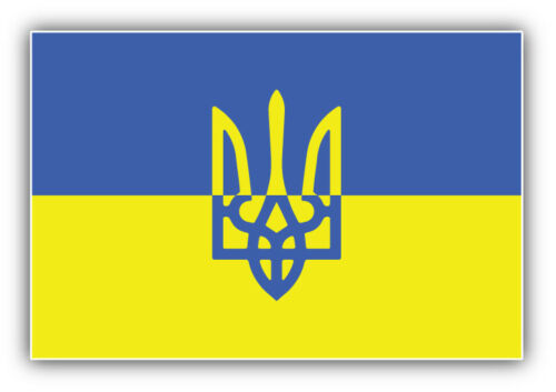 6/'/' or 8/'/' Ukraine World Flag Coat Of Arms Car Bumper Sticker Decal 5/'/' 3/'/'