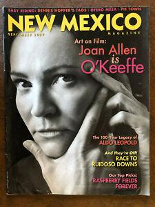 NEW MEXICO Magazine September 2009 Georgia O'Keefe Aldo Leopold Ruidoso Downs