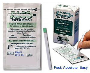 Details about 10 Alco-Screen Tests - Saliva Alcohol Test - AlcoScreen