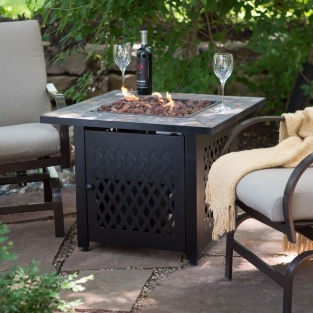 Outdoor Coffee Table Heater: Fire Pit Table Insert Propane Gas Outdoor Fireplace Patio
