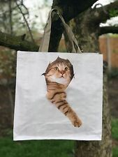Ginger Cat Reusable Shopping Bag Cat Lovers Gift Tote Shopper Beach Eco Friendly