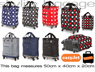 50x40x20 EasyJet Cabin Approved Wheeled Case Hand Luggage Flight Bag on 4 wheels