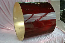 """GRETSCH 22"""" CATALINA MAPLE CHERRY RED BASS DRUM REPLACEMENT SHELL for SET! #J60"""