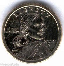 1 Dolar U.S.A. Sacagawea 2005 Denver @ Bañado oro @ Con estuche y certificado @