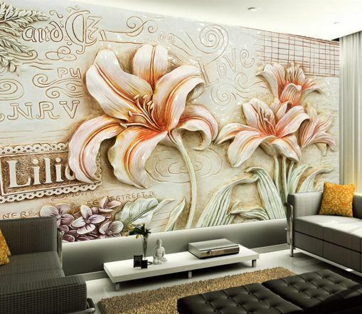 3D Lily geschnitzt  23 Fototapeten Wandbild Fototapete BildTapete Familie