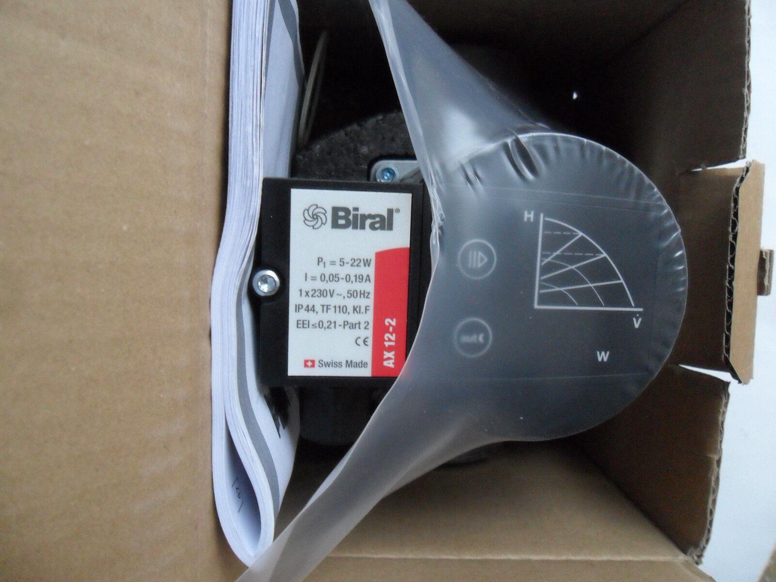 Biral AX 12-2  Heizungs- u.Solarpumpe (32-4) aus der Schweiz. TOPQUALITÄT
