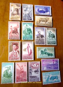 EBS-Spain-Espana-1960-Bullfighting-Toreo-Tauromachie-1151-1166-MNH