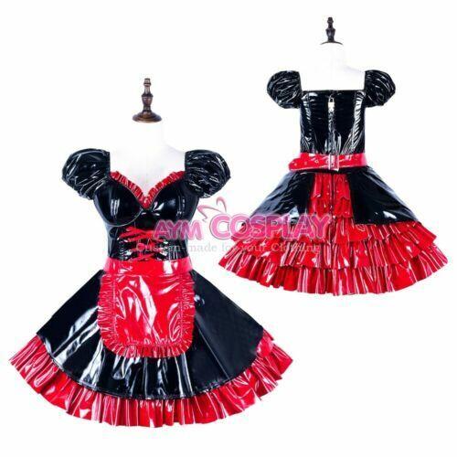 Girly Boy Maid PVC Dress Vinyl Tailored