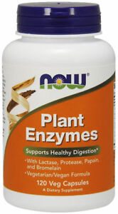 NOW-Foods-Plant-Enzymes-120-capsules-HEALTHY-DIGESTION-GUT-HEALTH