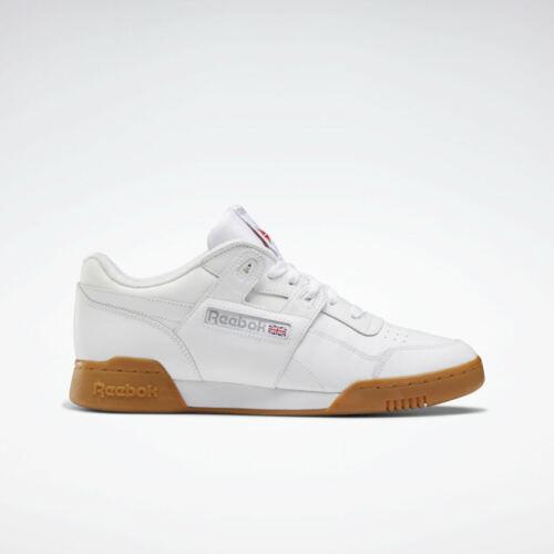 Men/'s Reebok Workout Plus Shoes CN2126 White Gum