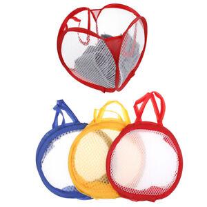 Laundry-Bag-Up-Mesh-Foldable-Washing-Basket-Bin-Hamper-Toy-Cloth-Storage-o