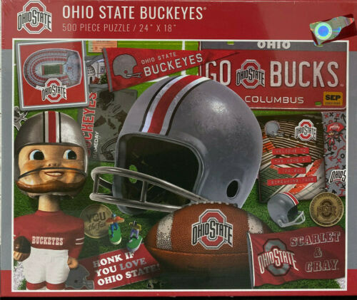 New box White Mountain Puzzle 500 PIECE Ohio State Buckeyes New in Wrapper
