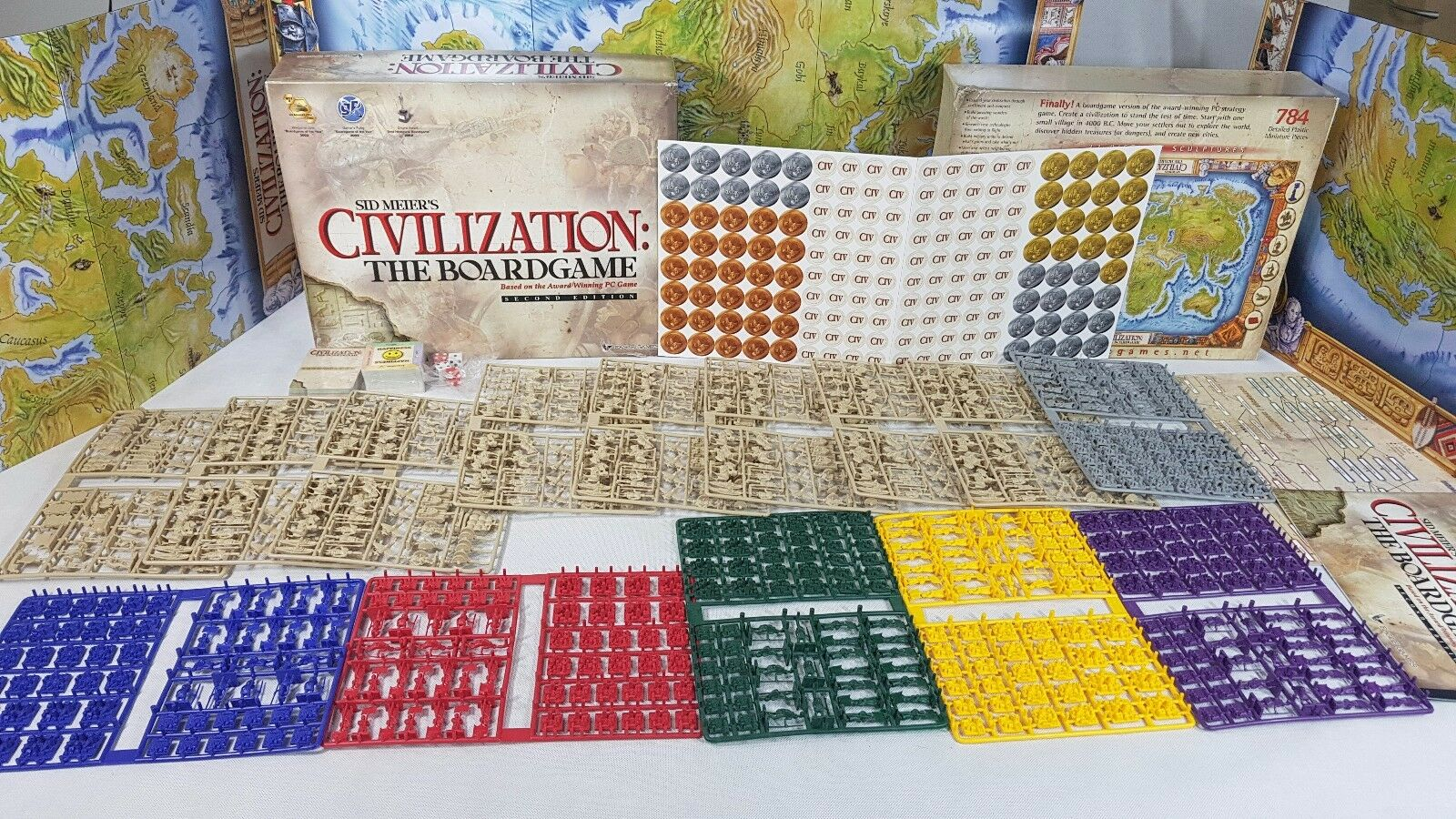 CIVILIZATION  THE BOARD GAME by Eagle Games - Brand New Opened [English, 2003]