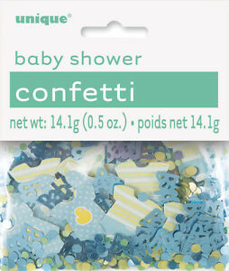 BABY-SHOWER-CONFETTI-GREEN-GOLD-DOTS-amp-BIBS-FOR-TABLE-DECORATIONS-0-5oz-14g