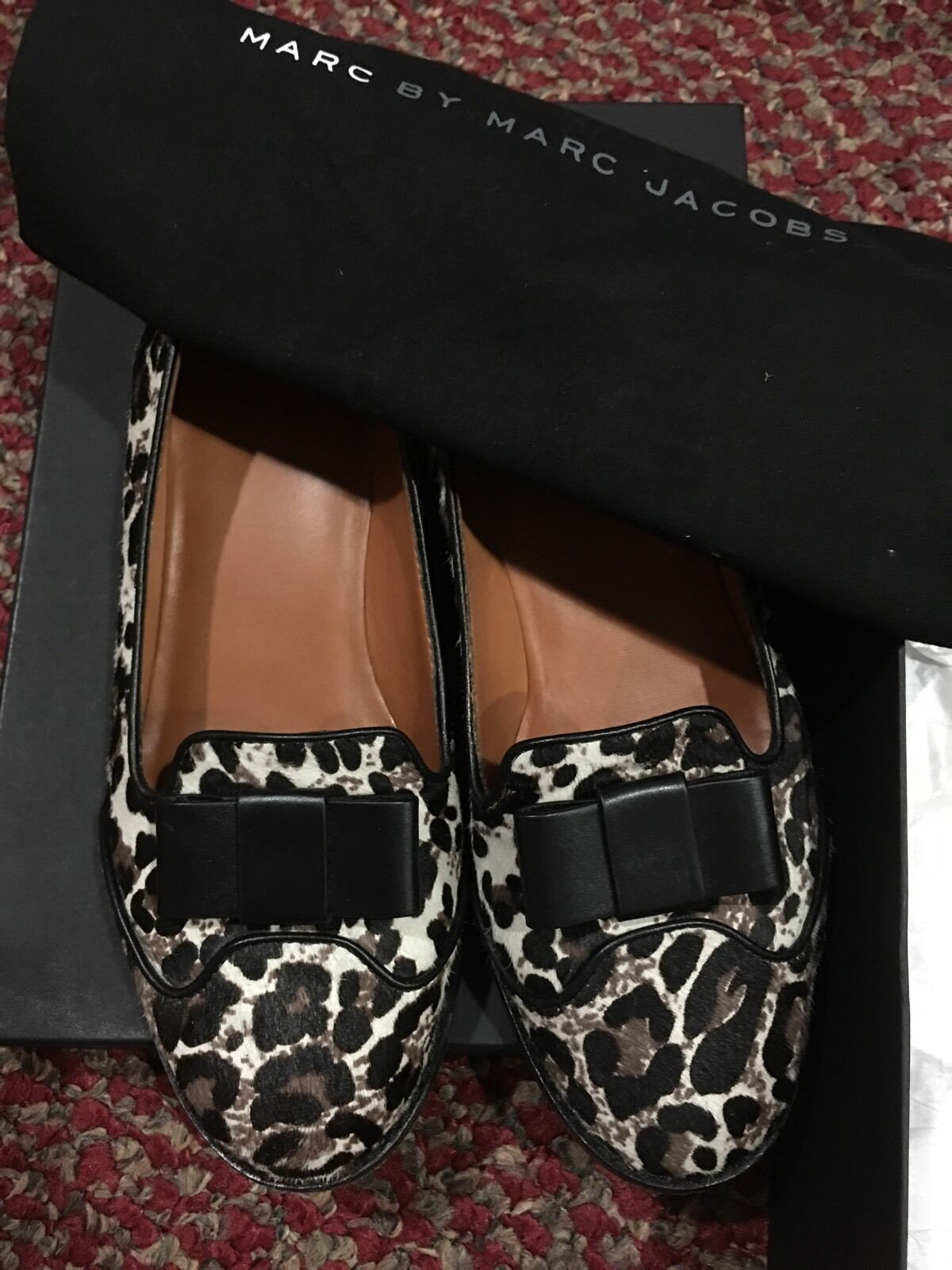 Used Authentic  Marc By Marc Jacobs Leopard Loafer 38.5 8.5