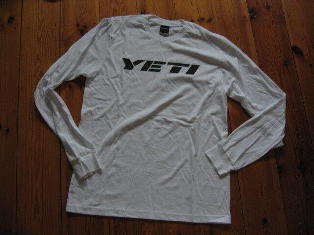 Yeti Cycles Yetiman T-Shirt Medium Langarm weiß neu
