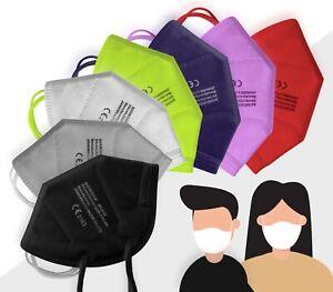 FFP2-Masken 5 Stück bunt farbig Atemschutzmasken CE2163 zertifiziert TÜV geprüft