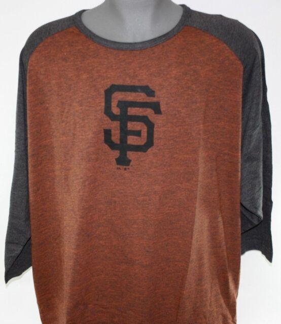 17750547d6f NEW Mens Majestic MLB San Francisco Giants Big   Tall 3 4 Sleeve Raglan T
