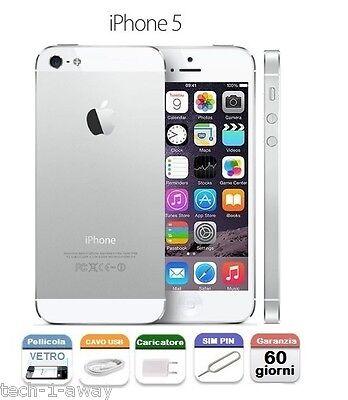 ORIGINALE APPLE iPhone 5 16gb GRADO A +GARANZIA + CONTRASSEGNO WHITE BIANCO