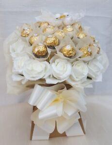 Details About Ferrero Rocher Chocolate Wedding Dove Bouquet Sweet Gift Hamper