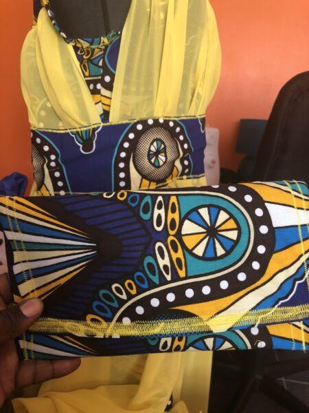 Abundante Vestido De Diseño De África-ver Efecto Evidente