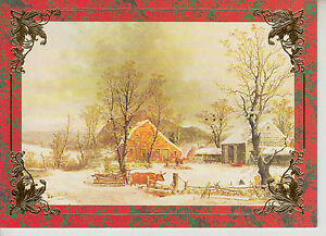 currier ives boxed christmas cards 16 count made in usa model