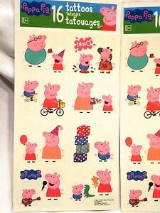 Peppa pig tattoos temporary tattoo set of two 32 tattoos for Peppa pig tattoo