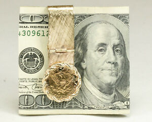 $5 Gold Coin Money Clip Hinged 30 Grams