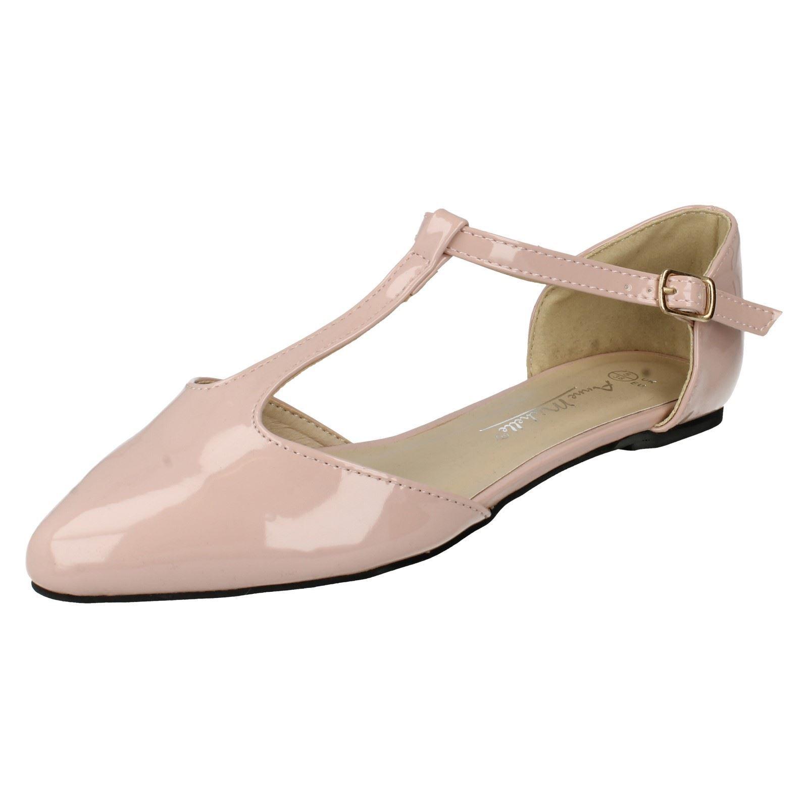 Mujer Plano Anne Michelle Barra T Charol Plano Mujer Cierre De Hebilla  zapatos  f80080 e24226