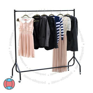 New 3ft Heavy Duty Clothes Garment Rail Double Hanging Dress Display Hanger Rack