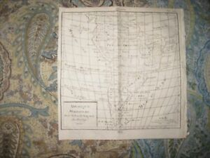 EARLY ANTIQUE 1750 SOUTH AMERICA VAUGONDY COPPERPLATE MAP BRAZIL TERRA FIRMA NR