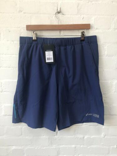 New Blue Asics Men/'s Fuzex Shorts 9 inch Stockholm Marathon Running Shorts