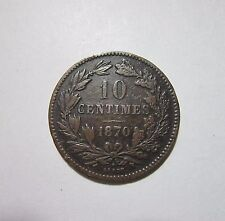 Luxembourg. 10 Centimes, 1870