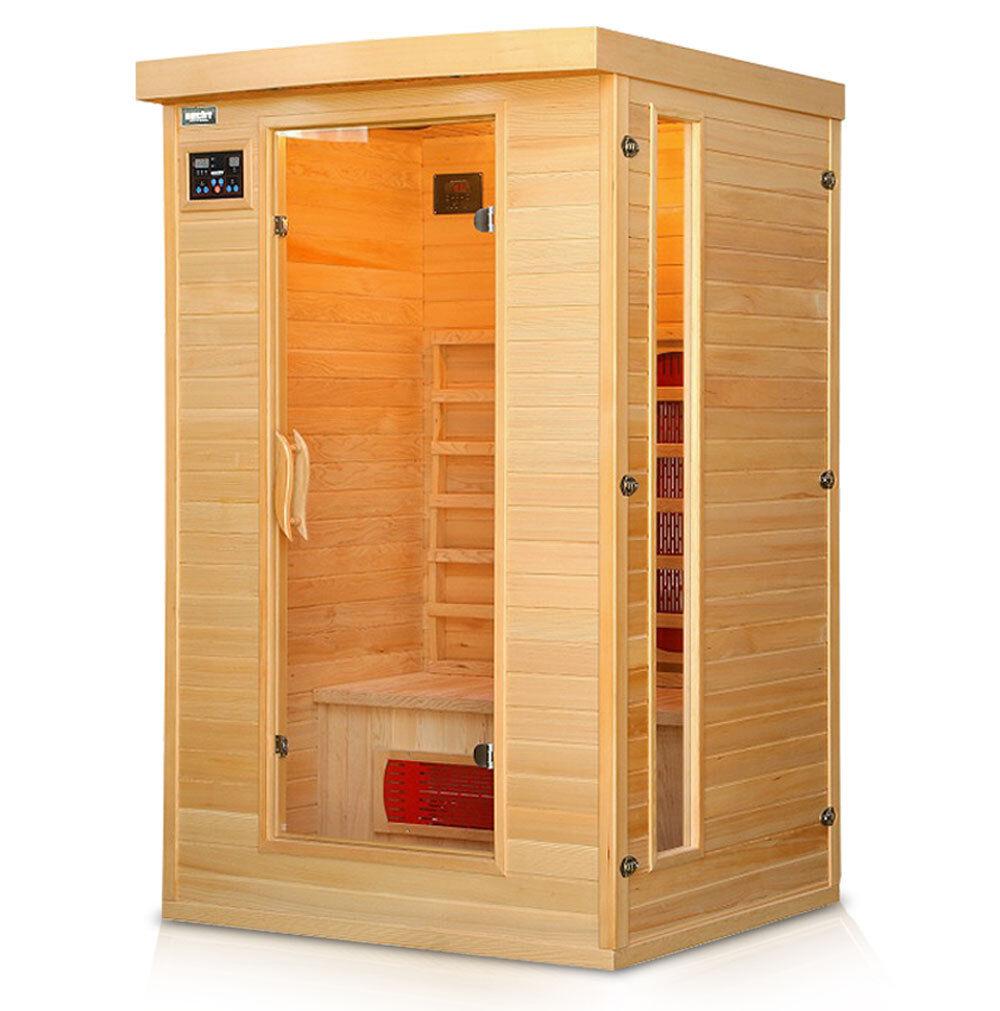Hecht Essential Infrarotsauna Infrarotkabine Sauna Infrarot Massiv Wärmekabine