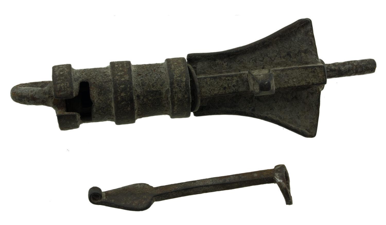 Vorhängeschloss tibetischer Nepal Kloster Buddhistisches antik Metall - 9774