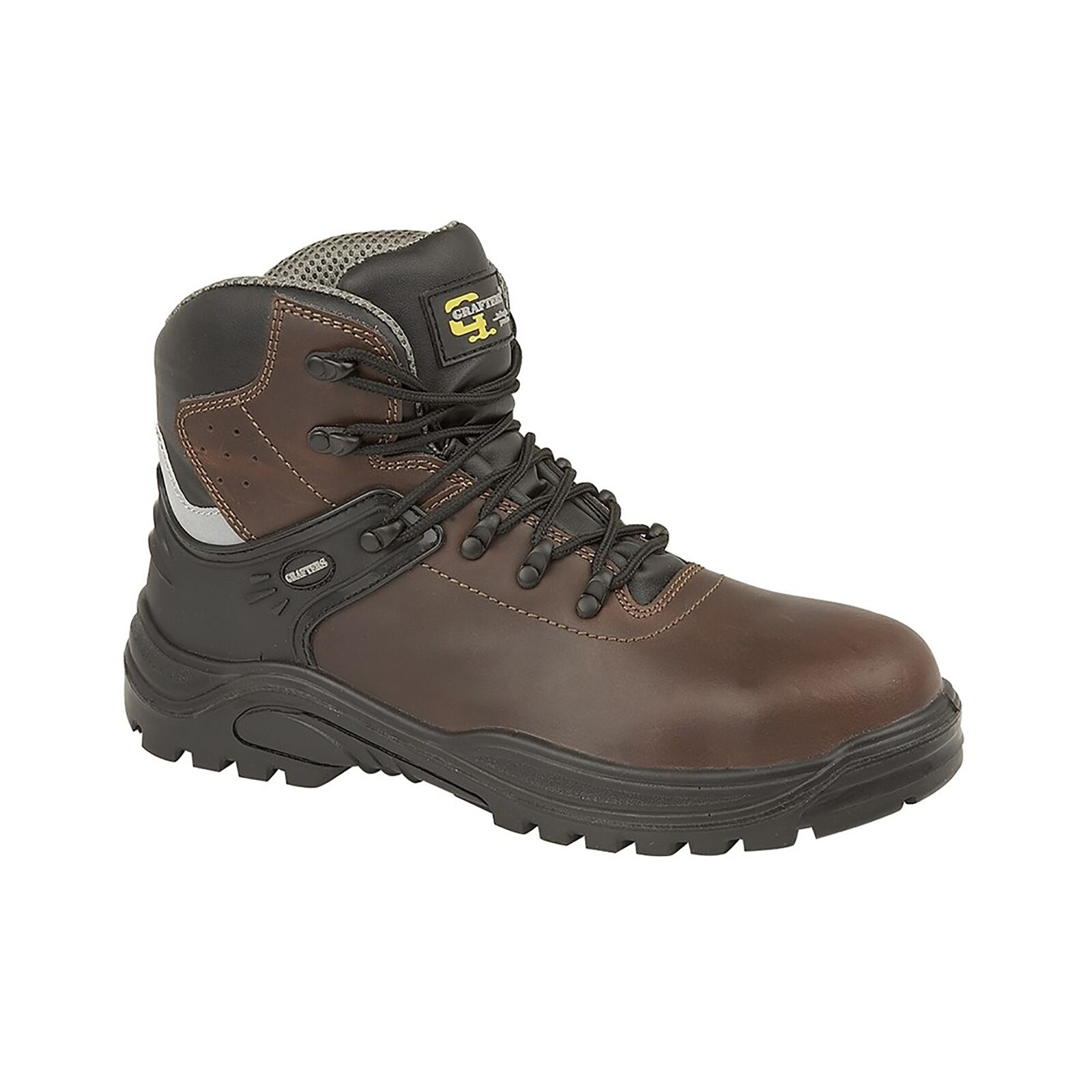 Grafters TRANSPORTER Unisex Leather Safety Boots Dark Brown